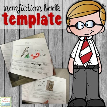 Nonfiction Animal Book Template: Freebie, Fact Writing, Research Book Writing