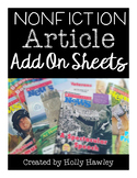 Nonfiction Article Add On Sheets