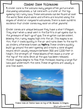 Nonfiction Article, Cinder Cone Volcanoes COMMERCIAL USE