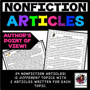 Reading Comprehension Passages Nonfiction Articles