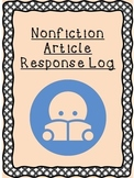 Nonfiction Article Response Log
