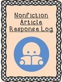 Nonfiction Article Response Log