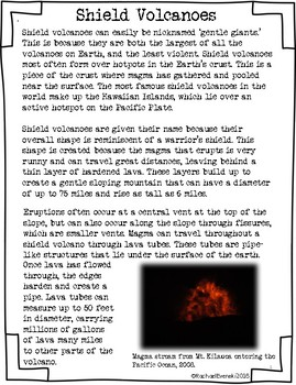 Nonfiction Article - Shield Volcanoes COMMERCIAL USE