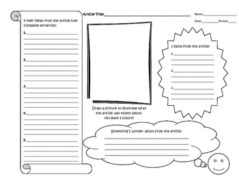 Nonfiction Article Worksheet