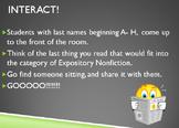 Nonfiction Structure & Text Features- Interactive Power Point!