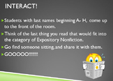 Nonfiction Structure & Text Features- Interactive Power Point!