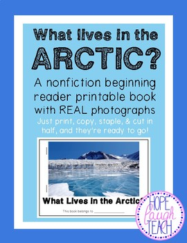 Nonfiction Beginning Reader Printable Book - Arctic