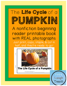 Nonfiction Beginning Reader Printable Book - Pumpkin Life Cycle