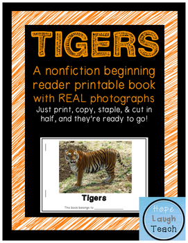 graphic about Tigers Printable Schedule titled Nonfiction Commencing Reader Printable Ebook - Tigers