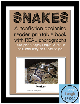 Nonfiction Beginning Reader Printable Books - Snakes