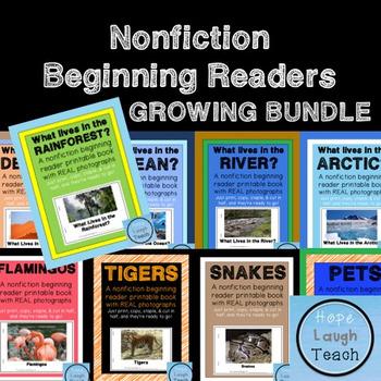 Nonfiction Beginning Readers Printable Books - Bundle