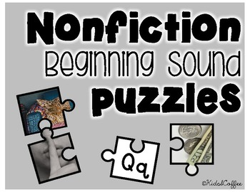 Nonfiction Beginning Sound Puzzles