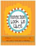 Nonfiction Book Bin Labels