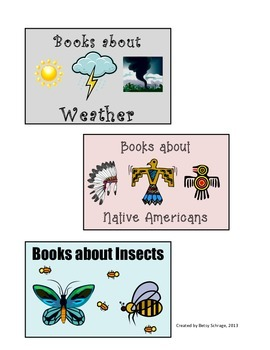 Nonfiction Book Bin or Basket Labels