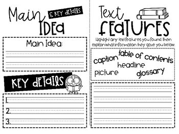 Nonfiction Book Buddy {Comprehension Booklet}