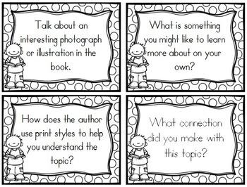 Book Club Question Cards- Nonfiction