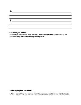 Nonfiction Book Club Worksheet