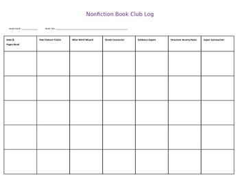 Nonfiction Book Clubs Student Roles