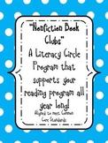 """""""Nonfiction Book Clubs"""" A Literature Program-supports CCS"""
