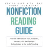 Nonfiction Book Guide - USE WITH ANY NONFICTION BOOK