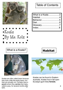 Nonfiction Book Koala
