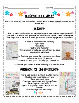 Nonfiction Book Report by Primary Reading Party | TpT