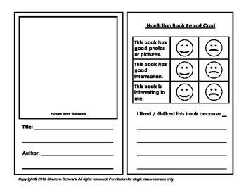 Nonfiction Book Report Card