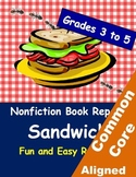 Nonfiction Book Report Sandwich for Grades 3 to 5