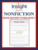 Nonfiction Book Report Worksheet