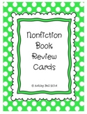 Nonfiction Book Review Cards