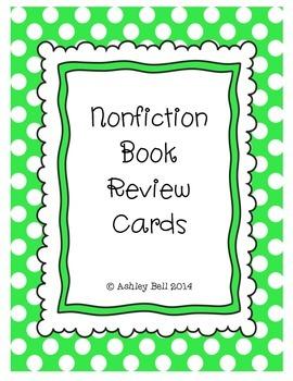 Nonfiction Book Review Cards