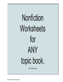 Nonfiction Text or Book Worksheets - for ANY nonfiction topic text or book