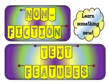 Nonfiction Books Text Features Anchor Charts