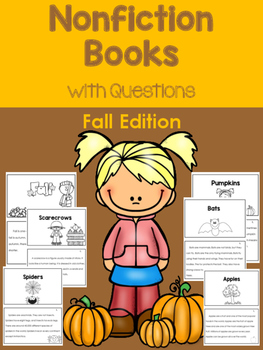 Fall Nonfiction Books with Questions - Great for Guided Reading!