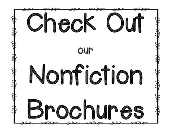 Nonfiction Brochure {Reading Response & Graphic Organizer}
