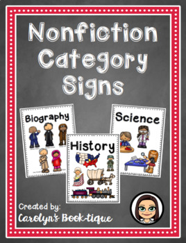 Nonfiction Category Signs