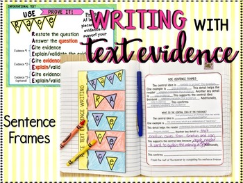NONFICTION: CENTRAL IDEA POWERPOINT, NOTES, & TEXT EVIDENCE WRITING