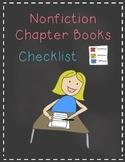 Nonfiction Chapter Books Checklist