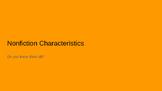 Nonfiction Characteristics Bundle (PowerPoint, Anchor Char