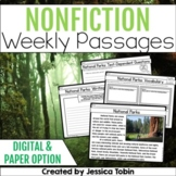 Weekly Nonfiction Reading Passages with Digital (Close Reading Passages)