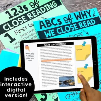 Reading Comprehension Passages and Questions Science