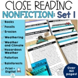 Reading Comprehension Passages Science   Nonfiction Reader Response 3rd 4th 5th