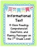 Informational Text Close Reading Comprehension & Fluency {2nd Grade Level}