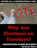 Nonfiction Close Reading - Election Day Voting