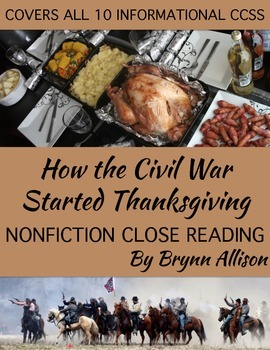 Nonfiction Close Reading - How Thanksgiving Became a National Holiday