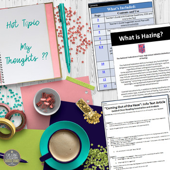 Informational Text Lesson on Hot Topics: Is Hazing Harmless or Hurtful?