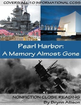 Nonfiction Close Reading - Pearl Harbor Day, Few Veterans Survive
