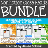 Nonfiction Reading Passages BUNDLE (Fall, Winter, Spring)