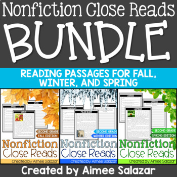 Nonfiction Reading Passages BUNDLE (Fall, Winter, Spring)