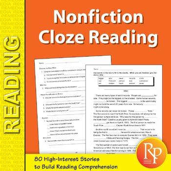 Nonfiction Cloze Reading